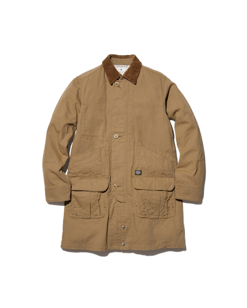 TAKIBI Duck Long Chore Coat