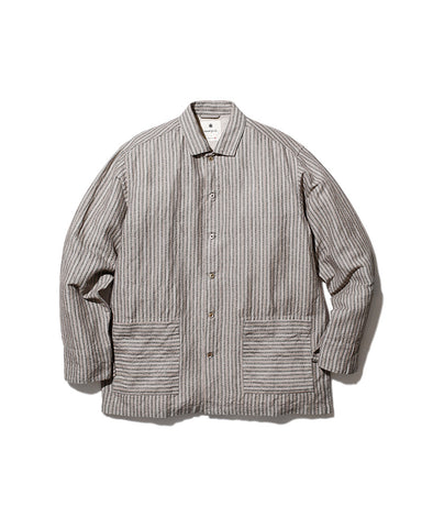 Cotton Linen Dobby Stripe Shirt
