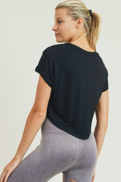 Perfectly Soft Crop Tee - Black