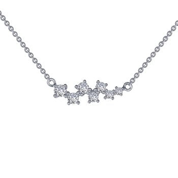 Lafonn Scattered Simulated Diamond Bar Necklace