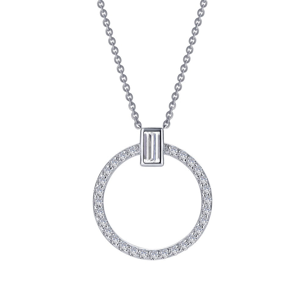 Lafonn Open Circle Necklace 0.39cttw