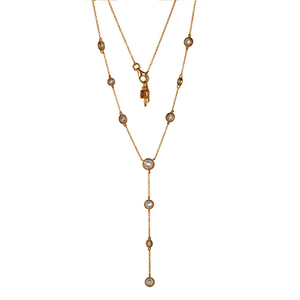 ELLE Gold Plated Cubic Zirconia Bezel Necklace