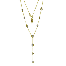Load image into Gallery viewer, ELLE Gold Plated Cubic Zirconia Bezel Necklace