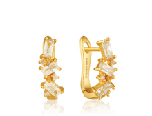 Load image into Gallery viewer, Gold Cluster Huggie Earrings