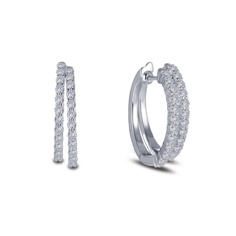 Lafonn Double Row Simulated Diamond Hoop