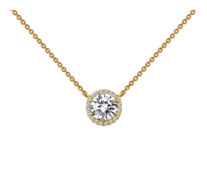 Lafonn Gold Plated Halo Necklace