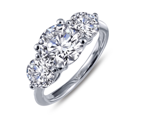 Lafonn Simulated Diamond Three-Stone Ring
