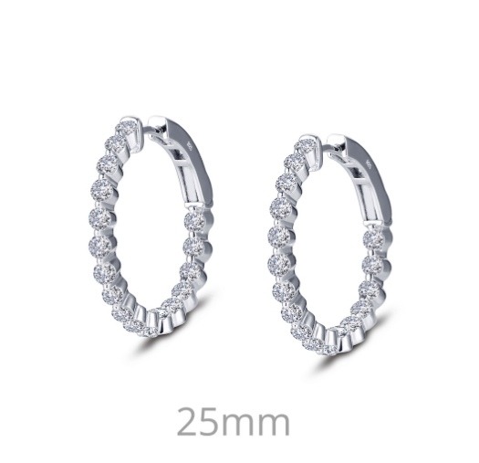 Lafonn Simulated Diamond Hoops