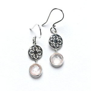 Southern Gates Dangle Earring with Rose Quartz