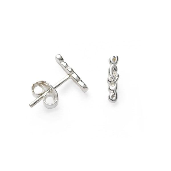 Southern Gates Filigree Vertical Bar Stud Earring