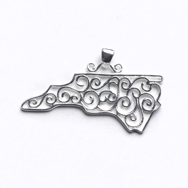 Southern Gates North Carolina State Pendant