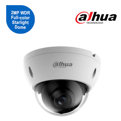 2MP WDR Full-color Starlight Dome Network Camera