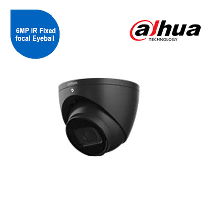 6MP IR Fixed focal Eyeball WizSense Network Camera 2.8mm- Black