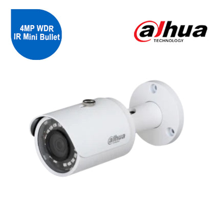 4MP WDR IR Mini Bullet Camera with 6.0mm Lens