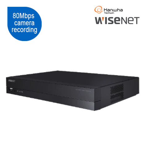 Wisenet Q Series 8CH 8MP NVR with PoE switch