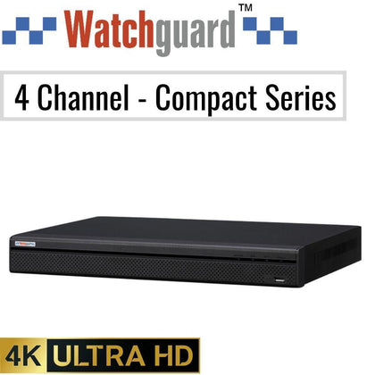 Watchguard Compact 4 Channel Network Video Recorder: 8MP (4K) Ultra HD - CCTV Security Direct
