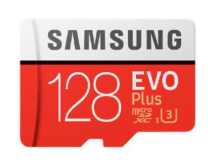 Samsung EVO Plus microSD Card (SD Adapter) 128GB