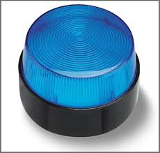 Blue Strobe, LED with Reflecting Mirror