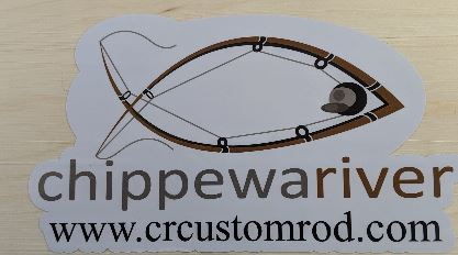 "4""x2"" Chippewa River Custom Rod Co Decal"