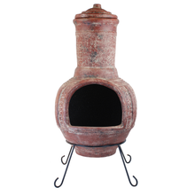 Load image into Gallery viewer, River Rock Chimenea