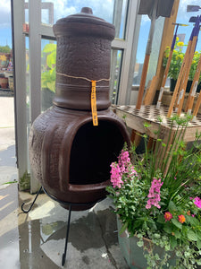 River Rock Chimenea