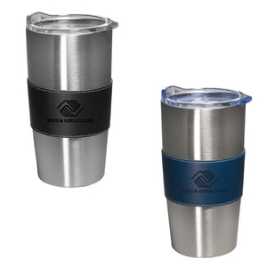 20oz Faux Leather Vacuum Tumbler