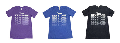 Keystone Tshirt Faded Logo Design