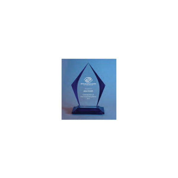 Tall Acrylic Award With Blue Accents