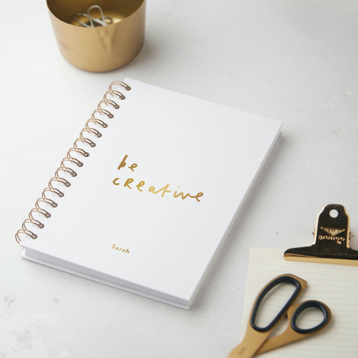 Be Creative Personalised Notebook