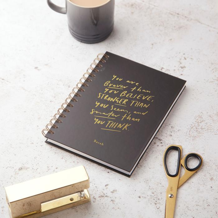 Braver then Believe Hardback Notebook