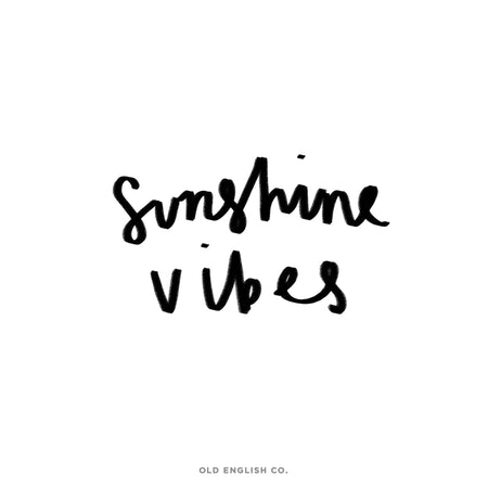 Sunshine Vibes Quote Image
