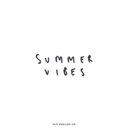 Summer Vibes Quote Image