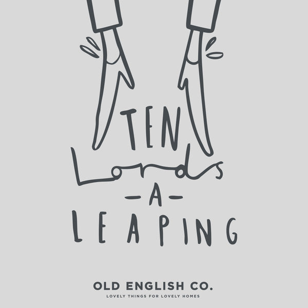 ten lords a leaping 12 days of christmas typography quote