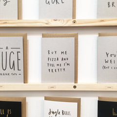 Buy Me Pizza Kraft Card Old English Company