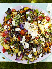 Griddled Vegetables & Feta with Tabbouleh Jamie Oliver Recipe