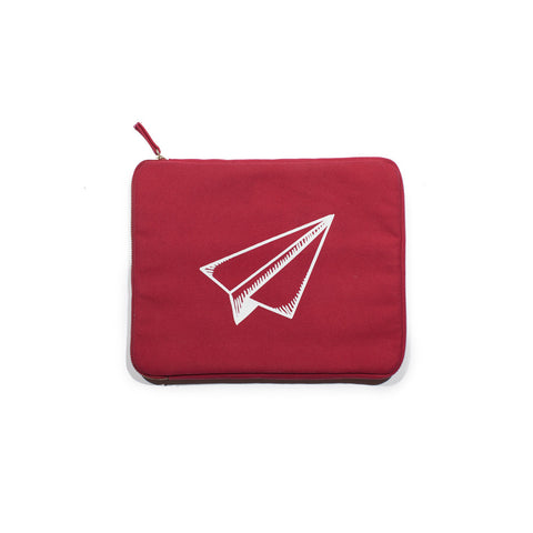 Red Canvas iPad Case