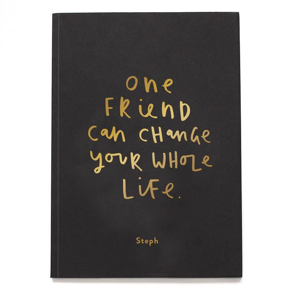 One Friend Personalised Foil Notebook