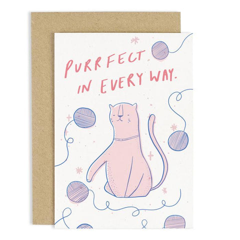 Purrfect In Every Way Cat Card