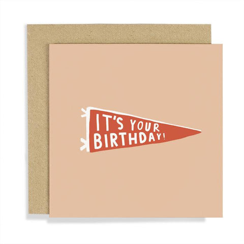 It's Your Birthday Pennant Flag Birthday Card