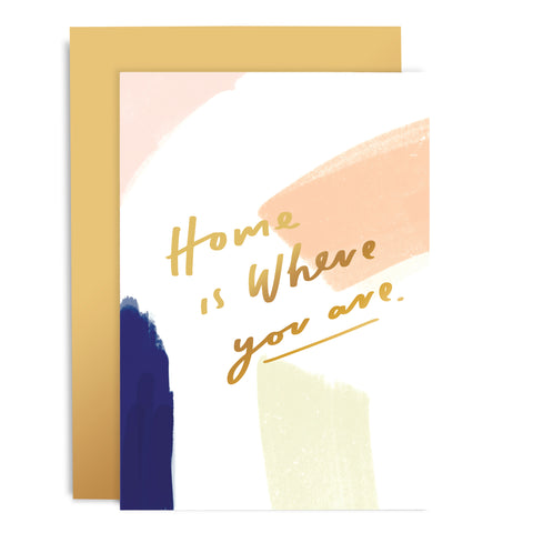 Home Is Where You Are Brushworks Card