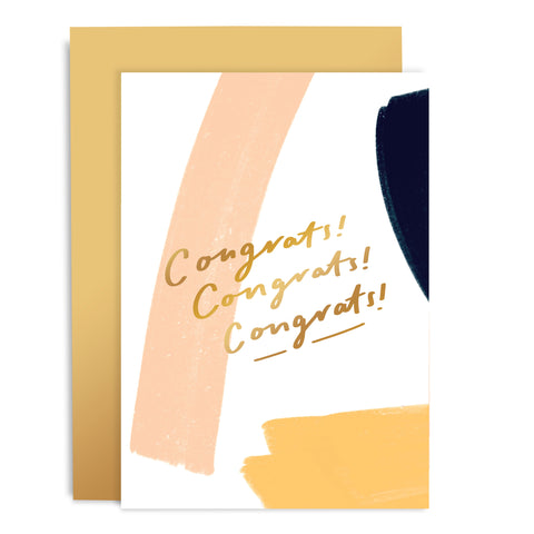 Congrats Brushworks Card