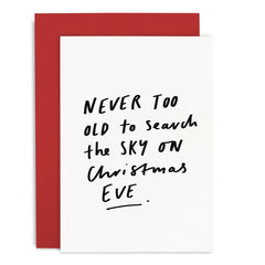Christmas Greeting Card - Christmas Eve Quote