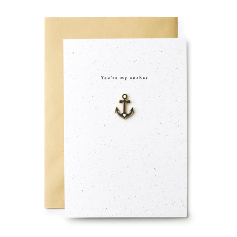 You're My Anchor Enamel Pin Card