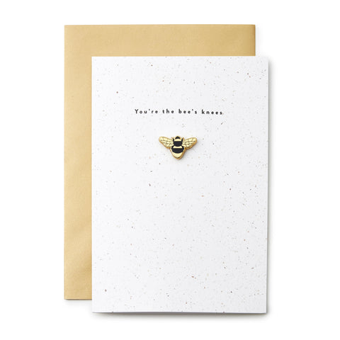 Bees Knees Enamel Pin Card