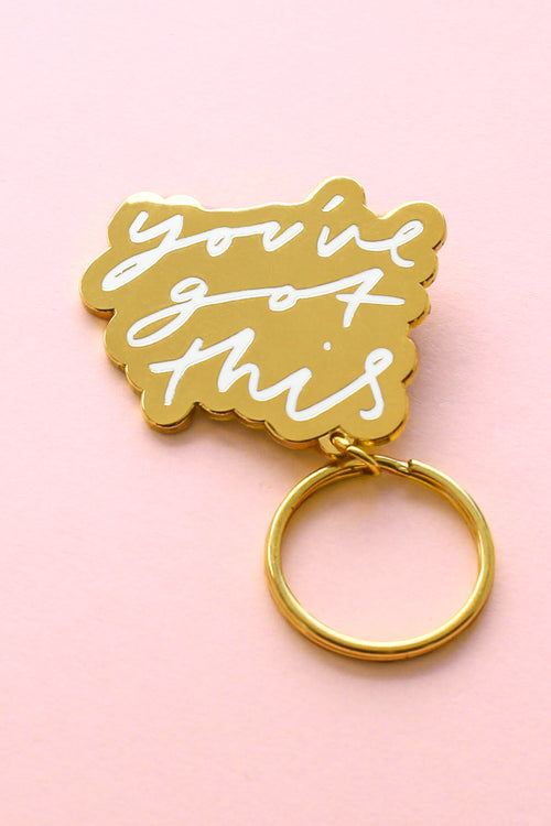 you've got this gold keychain