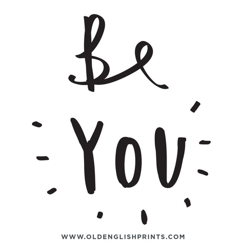 be you typography quote