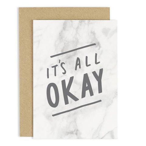 It's All Okay Marble Card