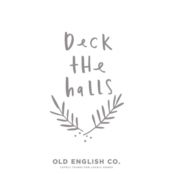 deck the halls christmas typography quote