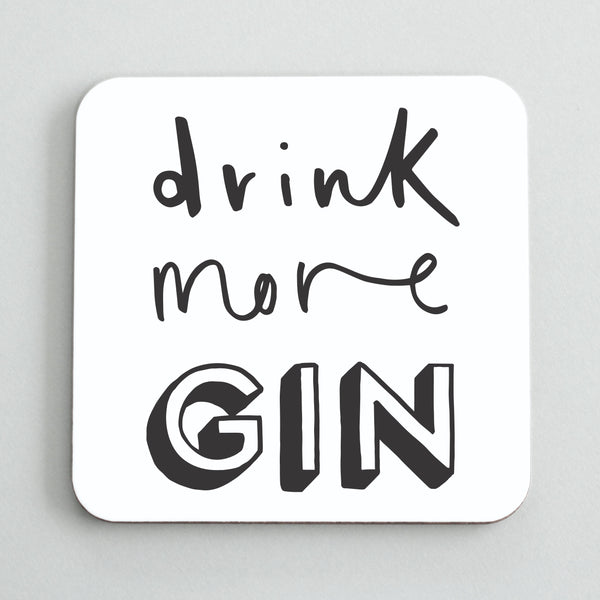 Drink More Gin Coaster Old English Co
