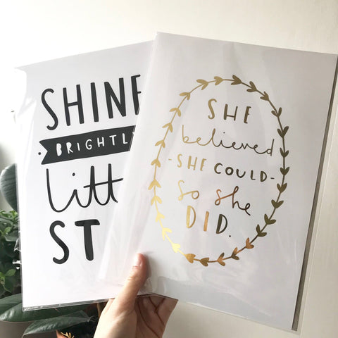 Art Prints Gold Foil